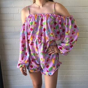 Romeo and Juliet couture Floral Romper